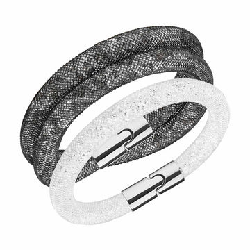 Swarovski Women's Bracelet Set - Stardust Crystal Nylon Fishnet Tube | 5185000