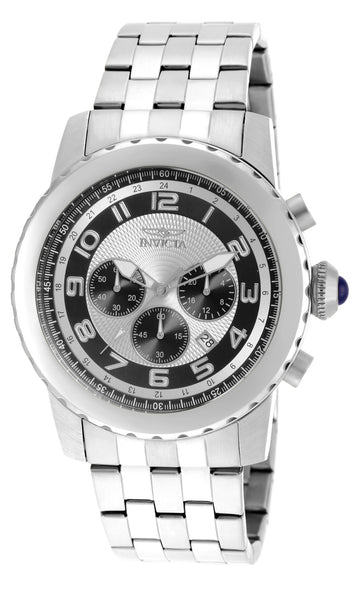 Invicta 19461 Men's Specialty Black & Silver Dial Date Watch