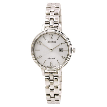 Citizen EW2440-53A Women's Steel Bracelet Eco Drive Chandler Silver Dial Date Watch