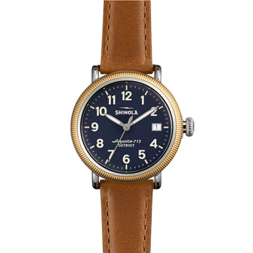 Shinola 10000288 The Runwell Unisex Blue Dial Date Watch