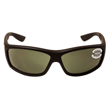 Costa Del Mar BK01OGGLP Men's Saltbreak Polarized Grey Mirror 580G Lens Blackout Frame Sunglasses