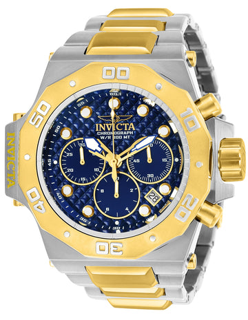 Invicta Men's Chronograph Watch - Akula Blue Dial Two Tone Bracelet Dive  | 23101