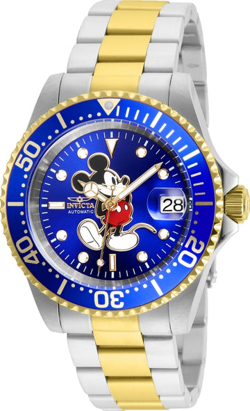 Invicta 25105 Disney Men's Blue Dial Two Tone Dive Watch