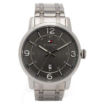 Tommy Hilfiger 1710345 Men's George Grey Dial Stainless Steel Bracelet Watch