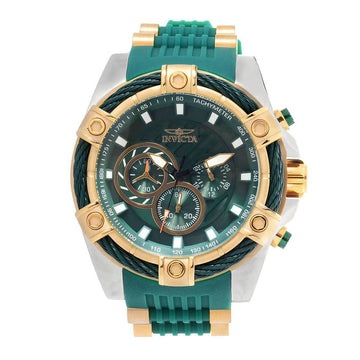 Invicta Men's Chronograph Watch - Bolt Green Dial Quartz | 25764