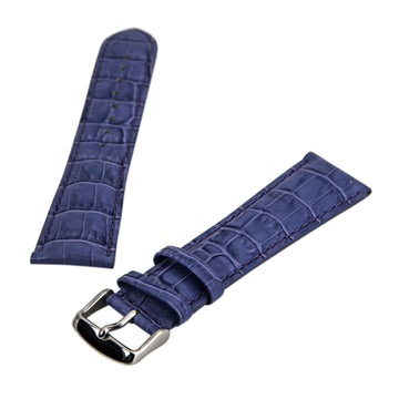Debeer 's Lilac 24 mm Wide Crocodile Grain Leather Strap