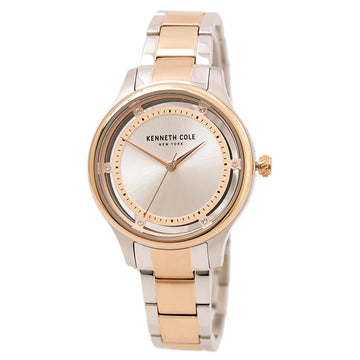 Kenneth Cole 10030798 Women's Two Tone Rose Bracelet Transparent Watch