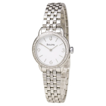 Bulova 96R181 Women's Diamond Gallery White Dial Quartz Steel Bracelet Watch
