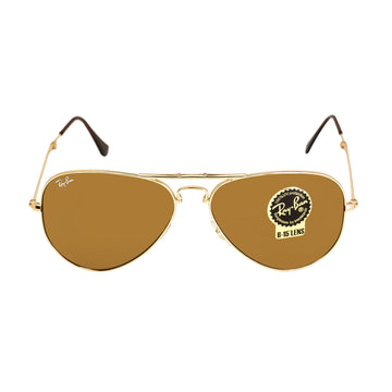 Ray-Ban RB 3479 001-33 58 Aviator Folding Gold Metal Frame Light Brown Gradient Lenses Men's Sunglasses