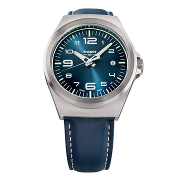 Traser Men's Strap Watch - P59 Essential M Blue Leather Blue Dial | 108214