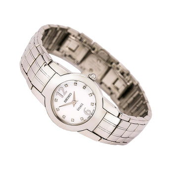 Seiko SUJ281 Women's Vivace Steel Bracelet Quartz Mother of Pearl Dial Diamond Watch