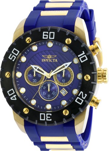 Invicta Men's Chronograph Watch - Pro Diver Blue Dial Quartz | 20280
