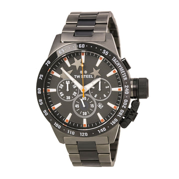 TW Steel TW314 Men's Canteen Bracelet Dark Grey Dial Chronograph Steel & Titanium Bracelet Watch
