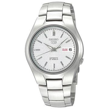 Seiko SNK601 Men's 5 Automatic Stainless Steel Bracelet Silver Tone Dial Day Date Watch