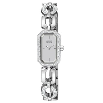 Citizen EG2760-56A Women's Silhouette Crystal Jewelry Eco-Drive Steel Watch
