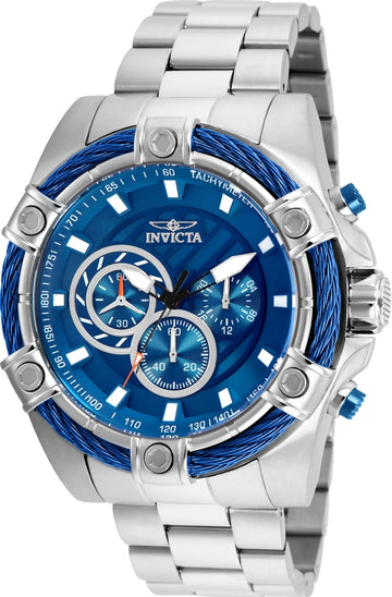 Invicta Men's Chronograph Watch - Bolt Blue Dial Stainless Steel Bracelet | 25513