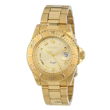 Invicta Women's Bracelet Watch - Angel Gold Tone Dial Yellow Gold Steel | 14321