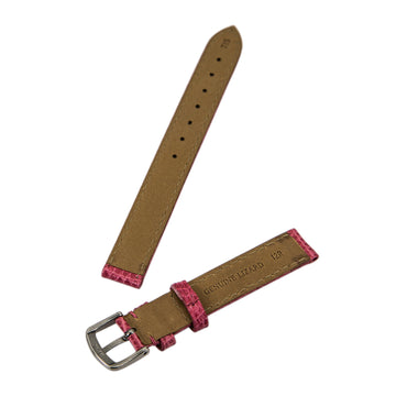 Hadley Roma Pink 12 mm Wide Genuine Lizard Leather Strap