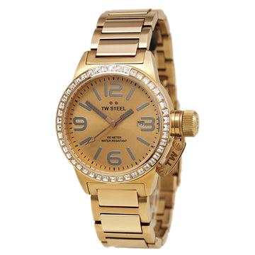 TW Steel TW305 Women's Canteen Swarovski Crystal Rose Gold Dial Rose Gold Steel Bracelet Watch