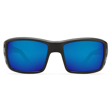 Costa Del Mar PT01OBMGLP Men's Permit X-Large 580G Polarized Glass Blue Mirror Lens Blackout Frame Sunglasses