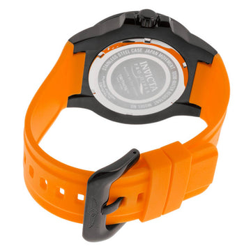 Invicta 23514 Men's Pro Diver Black Dial Orange Polyurethane Strap Watch