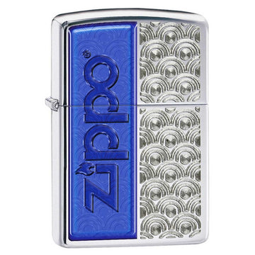 Zippo 28658 High Polish Chrome Special Design Classic Windproof Pocket Lighter
