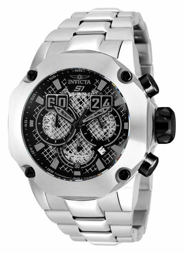 Invicta 19428 Men's S1 Rally Black & Silver Dial Chrono Dive Steel Bracelet Watch