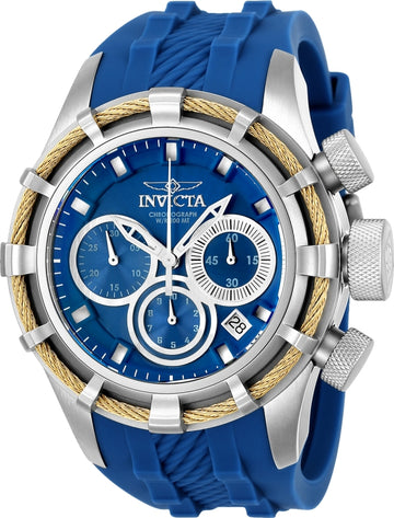 Invicta Men's Chronograph Watch - Bolt Sport Blue & Silver Dial Blue Strap | 22153