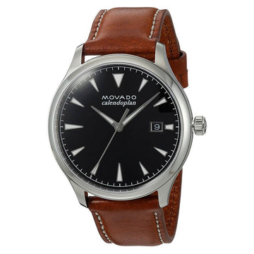Movado Men's Strap Watch - Heritage Calendoplan Cognac Leather | 3650001