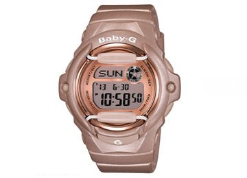 Casio BG169G-4 Women's Alarm Quartz Baby-G Grey Dial Pink Resin Strap Digital Watch