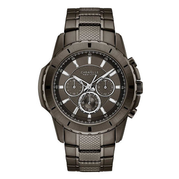 Caravelle 45A139 Men's Gunmetal Stainless Steel Quartz Chrono Gunmetal