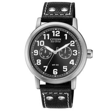 Citizen AO9030-21E Men's Avion Black Leather Watch
