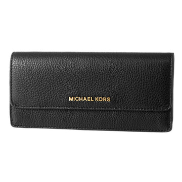 Michael Kors Women's Black Leather Carryall Wallet - Bedford Flap Continental