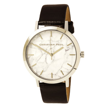 Christian Paul MR-05 Men's Elwood Marble Black Leather Watch