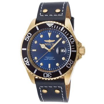 Invicta 22076 Men's Pro Diver Blue Dial Blue Leather Strap Dive Watch
