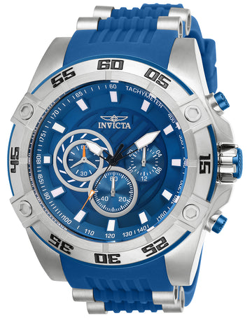 Invicta Men's Chronograph Watch - Speedway Blue Dial Quartz | 25506