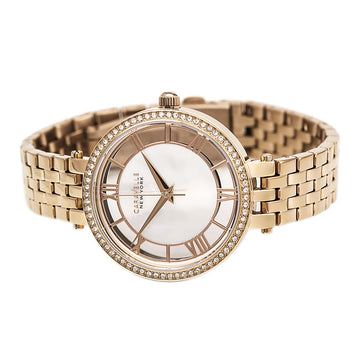 Caravelle 44L171 Women's MOP Dial Rose Gold Plated Stainless Steel Watch