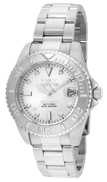 Invicta Women's Stainless Steel Dive Watch - Pro Diver Metallic White Dial | 24628
