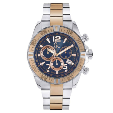 Guess Men's Chronograph Watch - Sport Racer Two Tone Bracelet | Y02002G7