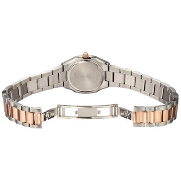 Bulova 98P143 Women's Two Tone Rose Gold Steel Quartz Mother of Pearl Dial Diamond Watch