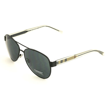 Burberry 0BE3084 100787 57 Womens Acoustic Gray Sunglasses