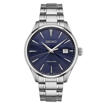 Seiko SRPA29 Men's Core Navy Blue Dial Stainless Steel Bracelet Power Reserve Automatic Watch