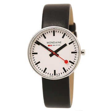 Mondaine A763.30362.11SBB Women's Mini Giant Swiss Black Leather Strap