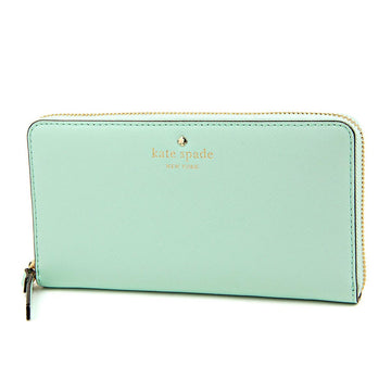 Kate Spade PWRU3898-428 Women's Cedar Street Lacey Zip Around Grace Blue Leather Wallet