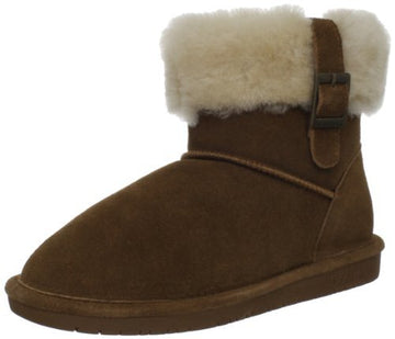 Bearpaw 1257W-220 Women's Abby Cow Suede Hickory Leather Winter Boot