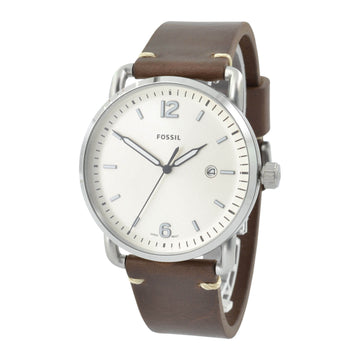 Fossil FS5275 The Commuter Men's Brown Band Cream Dial Watch