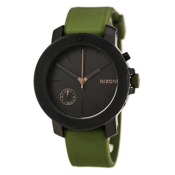 Nixon A3171089 Women's The Raider Green Silicone Strap Black Dial Quartz Crystal Watch