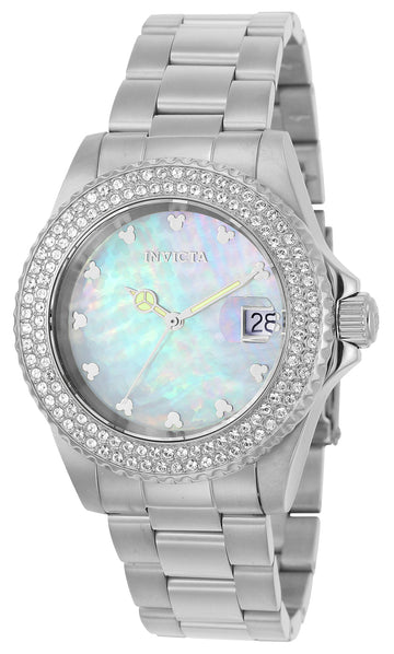 Invicta Women's MOP Dial Stainless Steel Watch - Disney Crystal Accent Bezel | 22730