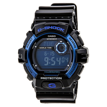 Casio G8900A-1 Men's G-Shock Digital Blue Dial Black Resin Strap Day Date Dive Watch