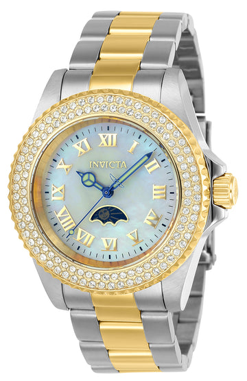 Invicta Women's MOP Dial Two Tone Steel Watch - Sea Base Quartz Crystal | 23831